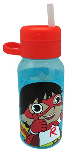 Ryans World 400ml Reusable Water Bottle, polypropylene plastic, Blue