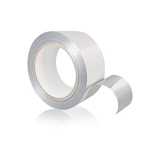 Tape-King Selbstklebendes Aluminium Klebeband [50mmx50m] I Hitzebeständiges Alu Klebeband zum Abdichten I Alutape, Aluband, Dichtband, Isolieren