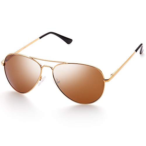 LotFancy Small Face Polarized Aviator Sunglasses Eyewear for Women with Hard Case -$7.86(37% Off)
