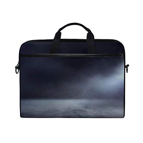 Laptop-Tasche Textur Dark Concentrate Bodennebel Nebel 15-15,4 Zoll Laptop-Tasche, Aktentasche Messenger Umhängetasche für Männer Frauen, College-Studenten Busines