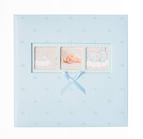 Grupo Erik AF200101506 Álbum de Fotos Memo Baby Polka Blue, Celeste Nubes, 22,7 x 22,2 x 5 cm