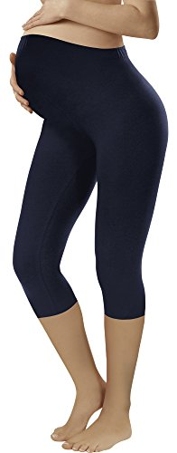 Italian Fashion IF Leggins 3/4 Premamá (Azul Oscuro, S)