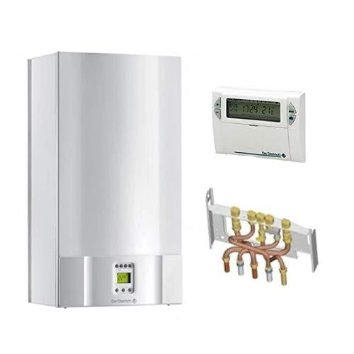 Chaudière Gaz BasNox Zena Econox MSN De Dietrich 24 kW/Cheminée Complète (Douilles + Dosseret) avec Thermostat Filaire