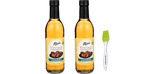 Reese Sherry Cooking Wine, 12.7 oz (Pack of 2) Bundle with PrimeTime Direct Silicone Basting Brush