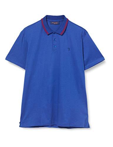 Trussardi Jeans Herren Polo Mercerized Cotton Regular Poloshirt, Blau (Blue Jeans U260), Small