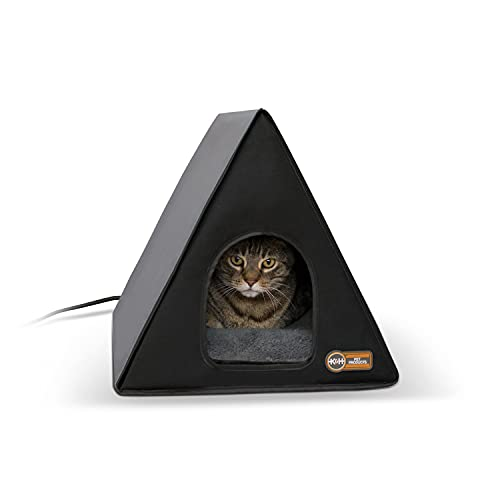 K&H Pet Products Heated A-frame Gray/Black 18' x 14' 20W Indoor/Outdoor Shelter