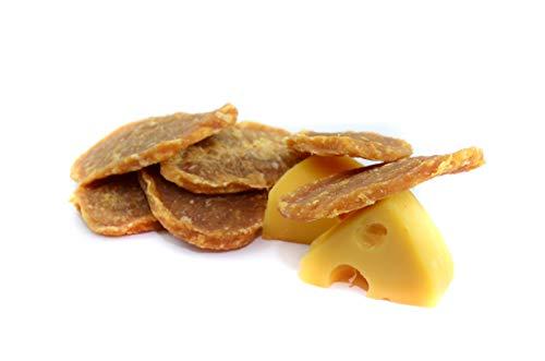 Maced Hundesnack Geflügelfilet mit Käse 50G, Gelber Käse ist eine reichhaltige Quelle von Protein und Kalzium Hundeleckerli 10er Pack (10 x 50 g)