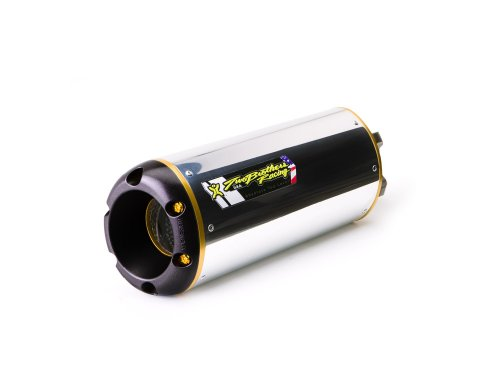 Black Series M-2 Aluminum Canister Slip-On Exhaust System 005-1470406V2-B Two Brothers Racing