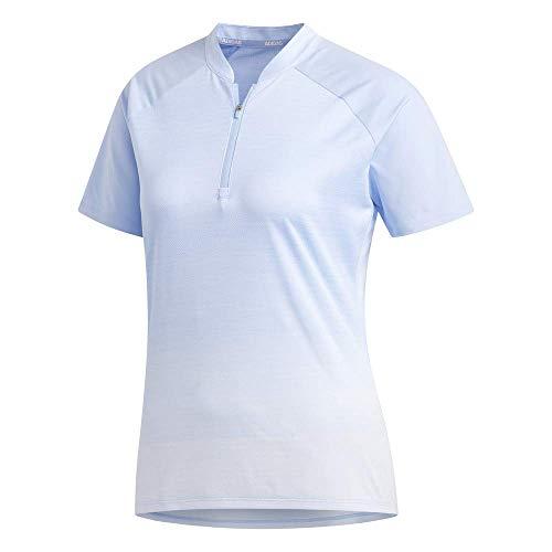 adidas Novelty Short Sleeve Polo, Glow Blue, Extra-Large para Mujer