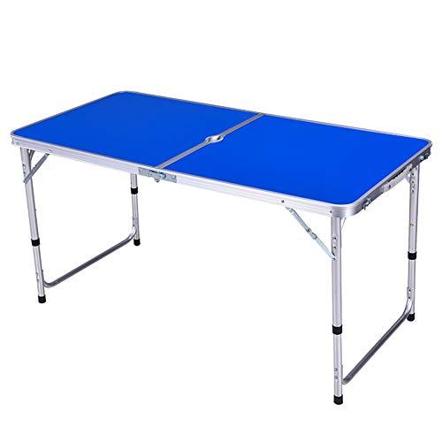 LLZI Mesa para Acampada,Altura Regulable -120x60x70cm De Aluminio Plegable,PortáTil como Si Fuera...