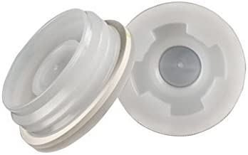 """Bung Cap 2"""" with 3/4"""" Knock Out, Buttress (Coarse Thread) with Gasket for Poly Drum, Brand New (2 Pack)"""