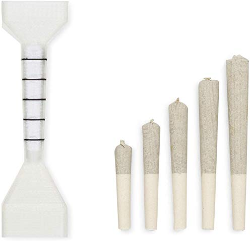 Simpacti Smoking Accessories   packNpuff Roller/Rolling Machine for 1 1/4 Pre Rolled Cones (Cones Rolling Papers). Includes 20 Organic Hemp 1 1/4 Cones & Wooden Packing Stick. RAW not for Weed