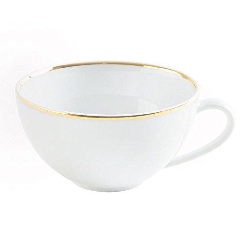 Kahla Magic Grip Table Teetasse, Cappuccinotasse, Obertasse, Line of Gold, Porzellan, 250 ml, 555803A30021C MG