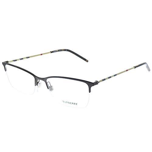 Burberry BE 1278 1012 Matte Brown Metal Semi-Rimless Eyeglasses 53mm