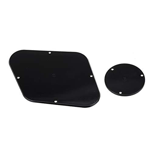 Musiclily Pro LP Control Back Plate and Switch Plate Cavity Cover for China Made Epiphone Les Paul Standard, 1Ply Black