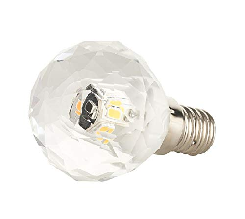 K5 Bougie LED E14 3 W Cristal – Ampoule cristal de plomb K5 blanc chaud spécialement conçue pour les lustres et les poubelles