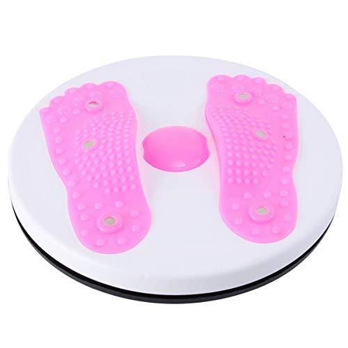 VOSAREA Taille Twister Magnet Ab Twister Board Wiederverwendbare Fitnessgeräte für Das Training Bauchbalance (Rosa)
