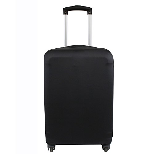 Explore Land Travel Luggage Cover Suitcase Protector Fits 18-32 Inch Luggage 01(Black, M(23-26 inch Luggage))