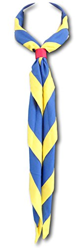 Wölfling & Pfadfinder, Uniform-Halstuch in vielen Farbkombinationen Gr. Einheitsgröße, royal & yellow