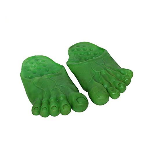 ZYYXB Halloween Decoración Aventura Pantuflas Monster Feet Zapatillas Niños Niños Halloween Disfraz Decoración, verde