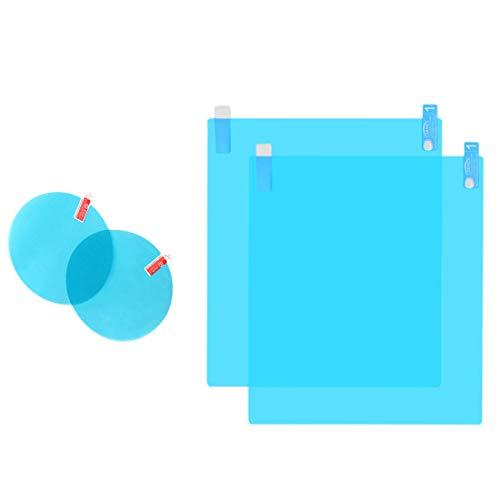 TOOGOO 4 StüCke Auto RüCkspiegel Film Auto Seitenspiegel Blendschutzfolie Film Anti-Fog Regen wasserdichte Membran Protector Auto RüCkspiegel Seitenfenster (2 Runde und 2 Rechtecke)