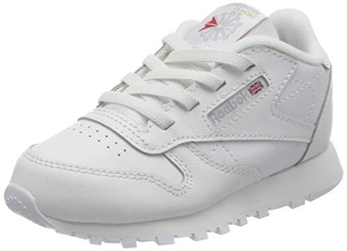 Reebok Classic Leather, Sneaker Unisex bebé, Footwear White/Footwear White/Footwear White, 24.5 EU