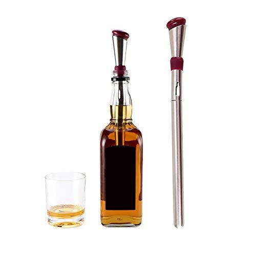 HOTEU Weinkühler Stick Set Premium 3-in-1 Edelstahl Flasche Kühlstange Dekantierbelüfter & Schnellgefrorener EIS Weinspender Stick Zubehör