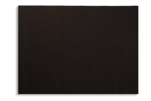Saten Mantel Individual, 30 x 40 Cm, Gofrado, 40 Gramos, Negro, Set de 800