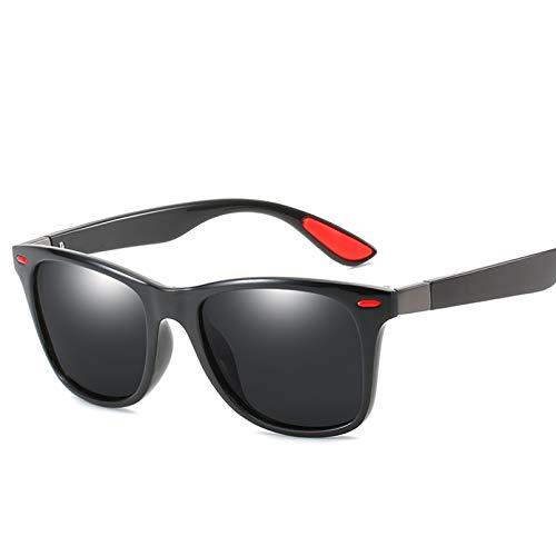 YTYASO Gafas de Sol polarizadas Hombres Mujeres Que conducen Gafas de Sol con Montura Cuadrada para Hombres Hombre UV400