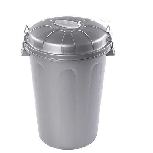 CABLEPELADO Cubo Basura plastico Comunidad con Tapa 100 litros Gris