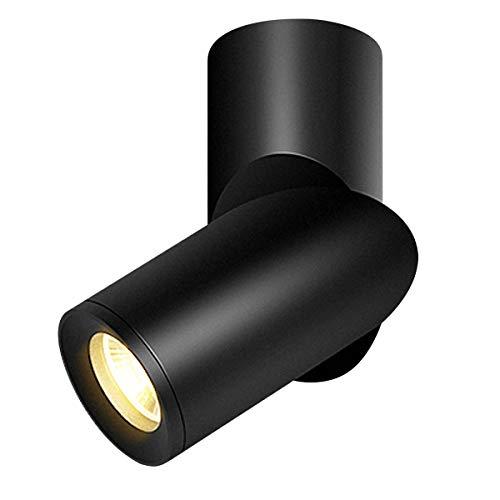 Budbuddy 12W LED faretti regolabili da soffitto faretti spot Faretti Lampade orientabile Lampada da soffitto moderna interno per cucina negozio sala, 3000K aluminum