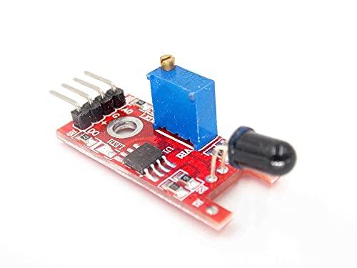 GzxLaY Smart Electronics 4pin KY-026 Sensor de Llama IR Módulo de detección de Incendios Detecta el Receptor de Infrarrojos para el Kit de Inicio DIY