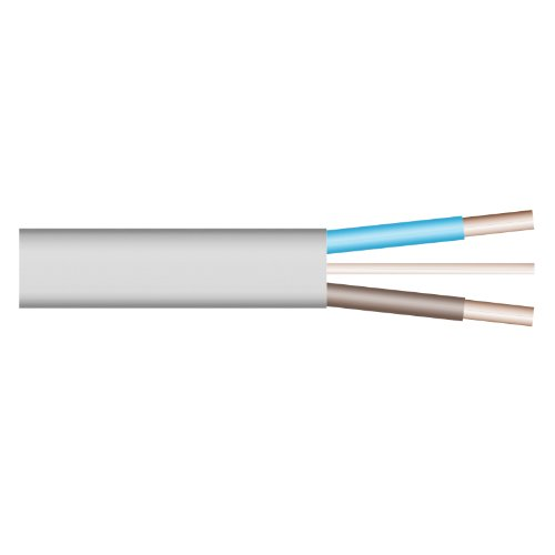 Electrovision – grijze kabel 2 geleiders plus massa 6242Y bobine 10 m / 6mm2