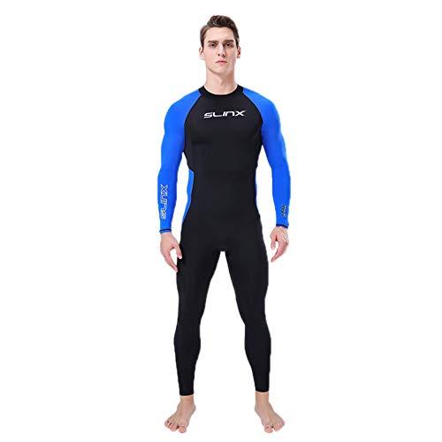 AmyGline Herren Neoprenanzug Ganzkörper Badeanzug Dünn Schnell Trocknend Tauchen Surfen Schwimmen Overall Tauchanzug Einteiler Swimsuit Wetsuit