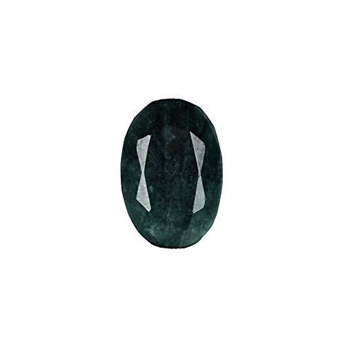 GEMHUB Esmeralda verde natural de 10 quilates, corte ovalado fino, piedra preciosa de forma brillante para hacer anillos y colgantes