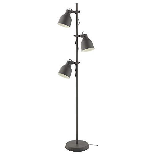 HEKTAR Stehlampe mit 3 Spots, 176 cm, dunkelgrau