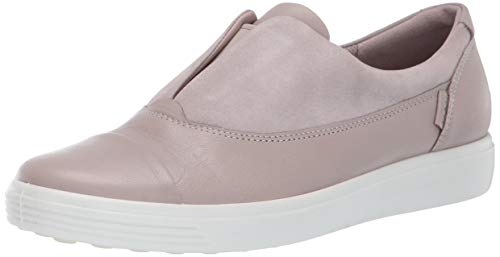 ECCO womens Soft 7 Slip on 2.0 Sneaker, Grey Rose/Grey Rose, 10-10.5 US