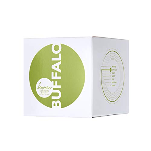 Loovara 12 Kondome in individuellen Größen - Kondomgröße 64 - Size Buffalo - Latexfreie Kondome dünn aus Fair Rubber - Für mehr Fun & Feeling beim Sex - Vegane Präservative im 12er Pack