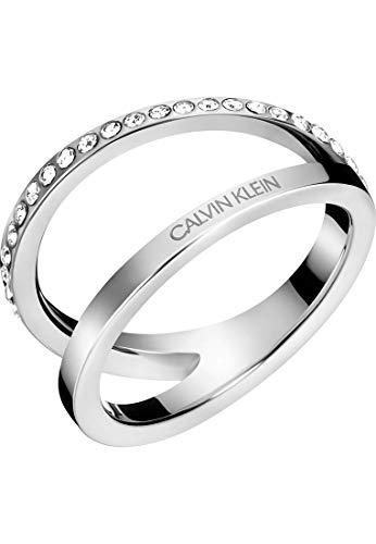 Calvin Klein Anillo para mujer Outline de acero inoxidable 54 plata 32011441