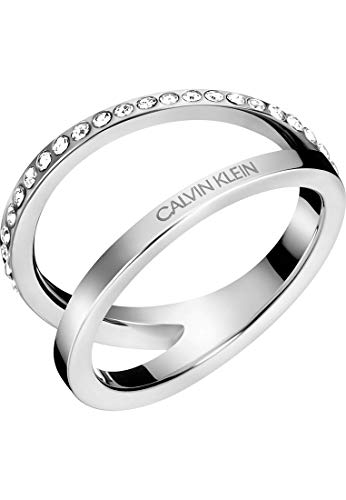 Calvin Klein Damen-Damenring Outline Edelstahl 52 Silber 32011441
