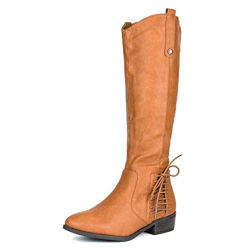 DREAM PAIRS Women's Acker Camel Knee High Boots Size 10.5 B(M) US