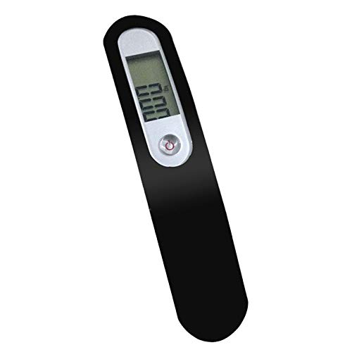 Gazechimp Báscula de Equipaje, Peso de Maleta de Mano Portátil Digital para Viajes, 110 Libras, Batería Incluida - Negro