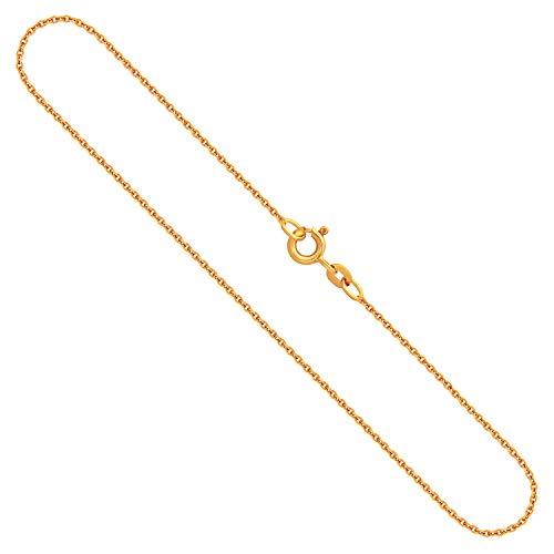Goldkette, Ankerkette rund Gelbgold 585/14 K, Länge 40 cm, Breite 1.3 mm, Gewicht ca. 2.3 g, NEU
