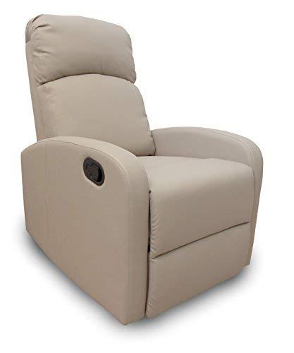 arredocasa serafino Poltrona Relax Giulia reclinabile manualmente in Ecopelle Tortora