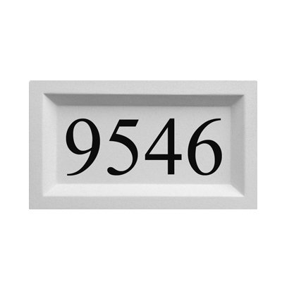 Personalized Address Plaque by ABC Address Blocks. 9' x 15' Recessed Style. Pre-Cast Stone. Engraved Sign for Mailbox.