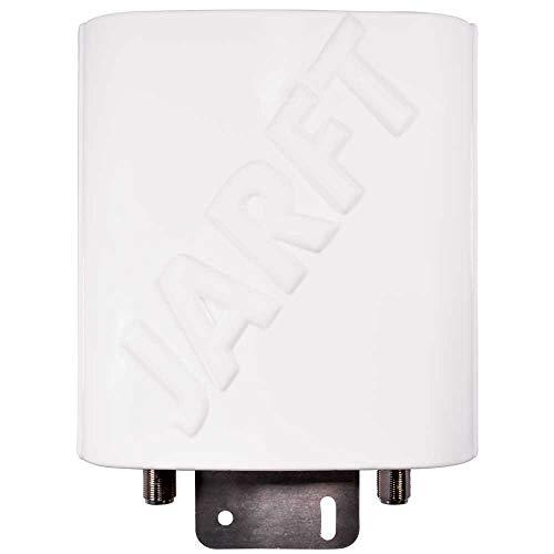 JARFT J4GMB-12 LTE Antenne inkl. 10m Twin Antennenkabel - 12dBi, 800/1800/2600MHz Multiband - Wetterfeste 4G Rundstrahlantenne passend für LTE Router
