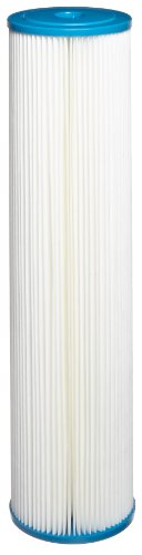 "Hydronix SPC-45-2005 Pleated Water Filter Whole House Commercial Industrial Washable and Reusable, 4.5"" x 20"" - 5 micron"