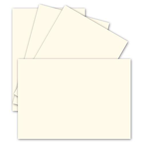 25 Einzel-Karten DIN A6-10,5 x 14,8 cm - 240 g/m² - Naturweiß - Ton-Papier Qualität, Bastel-Karten - Bastelkarton - blanko Postkarten