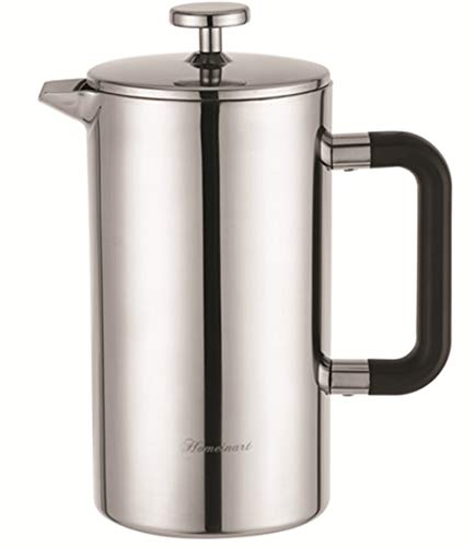 Fantastic Deal! French Press Coffee and Tea Maker, Double Wall 304 Grade Stainless Steel Insulated C...