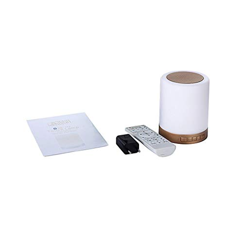 HSD Altavoz Bluetooth ToU-ch con mando a distancia, Bluetooth portátil, lámpara LED móvil, mando a distancia, lámpara de mesita de noche, lámpara de altavoz de Corán